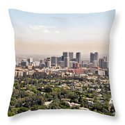 Los Angeles California - Glitter And Trouble Throw Pillow