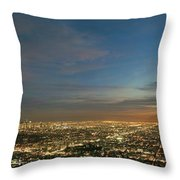 Los Angeles City Of Angels Throw Pillow