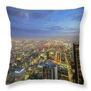 Los Angeles Downtown Nightscape Throw Pillow