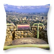 Los Angeles Skyline From Mulholland Throw Pillow