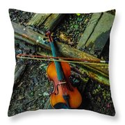 Lost Violin Throw Pillow