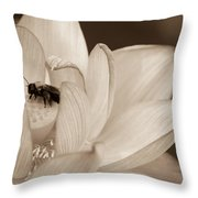 Lotus And Friend Throw Pillow