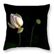 Lotus Pair Throw Pillow