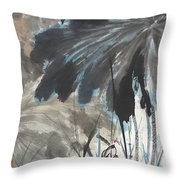 Lotus In The Pond Throw Pillow