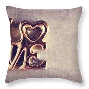 Love 2 Throw Pillow