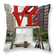 Love Sculpture Throw Pillow