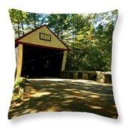 Lovejoy Covered Bridge Throw Pillow