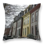 Lovely Ladies In Lafayette Square  Throw Pillow