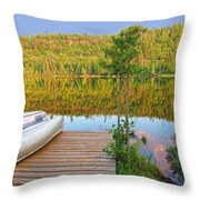 Lovely Lake Throw Pillow