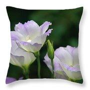 Lovely Lisianthus Throw Pillow