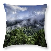 Low Clouds Throw Pillow
