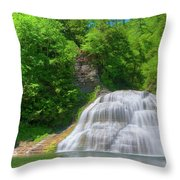 Lower Falls 0485 Throw Pillow