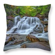 Lower Kaaterskill Falls Throw Pillow