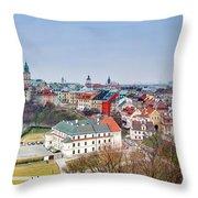 Lublin Old Town Panorama Poland Throw Pillow