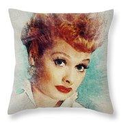 Lucille Ball, Vintage Actress Throw Pillow