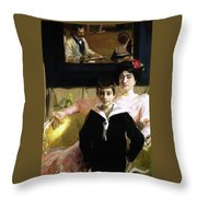 Lucrecia Arana With Her Son Throw Pillow