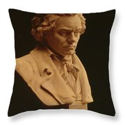 Ludwig Van Beethoven, German Composer Throw Pillow