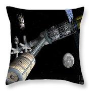Lunar Cycler Centrifuge Throw Pillow