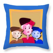 Luncheon With The Girls Throw Pillow