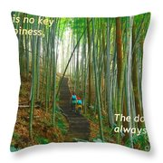 Lush Bamboo Forest Throw Pillow