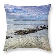 Lyme Regis Seascape - October Throw Pillow