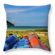 Mackinac Bridge 2241 Throw Pillow