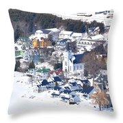 Mackinac Island Winter Throw Pillow