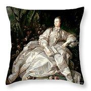 Madame De Pompadour Throw Pillow by Francois Boucher