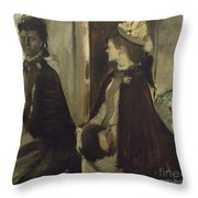 Madame Jeantaud In The Mirror Throw Pillow