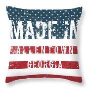 Made In Allentown, Georgia Throw Pillow