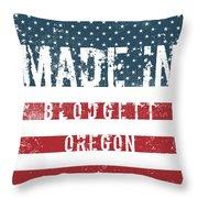 Made In Blodgett, Oregon Throw Pillow