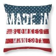 Made In Blomkest, Minnesota Throw Pillow