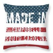 Made In Campobello, South Carolina Throw Pillow