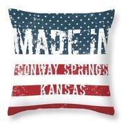 Made In Conway Springs, Kansas Throw Pillow