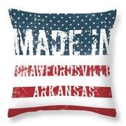 Made In Crawfordsville, Arkansas Throw Pillow