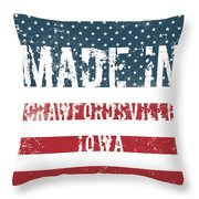 Made In Crawfordsville, Iowa Throw Pillow