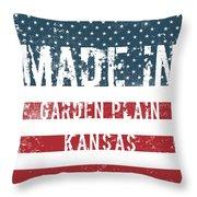 Made In Garden Plain, Kansas Throw Pillow