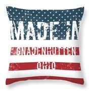 Made In Gnadenhutten, Ohio Throw Pillow