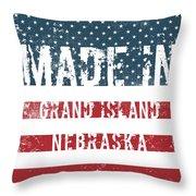 Made In Grand Island, Nebraska Throw Pillow