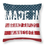 Made In Grand Rapids, Minnesota Throw Pillow