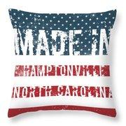 Made In Hamptonville, North Carolina Throw Pillow