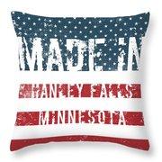 Made In Hanley Falls, Minnesota Throw Pillow