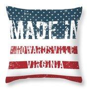 Made In Howardsville, Virginia Throw Pillow