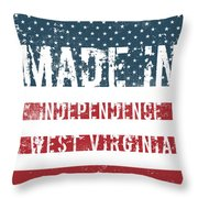 Made In Independence, West Virginia Throw Pillow