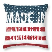 Made In Lakeville, Connecticut Throw Pillow