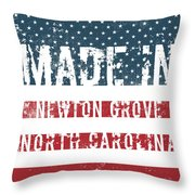 Made In Newton Grove, North Carolina Throw Pillow