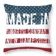 Made In North Conway, New Hampshire Throw Pillow