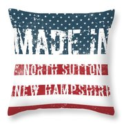 Made In North Sutton, New Hampshire Throw Pillow