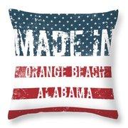 Made In Orange Beach, Alabama Throw Pillow