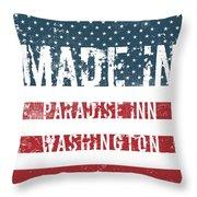 Made In Paradise Inn, Washington Throw Pillow